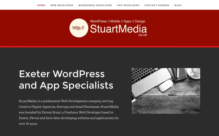 Exeter Based WordPress Developer and Mobile App De