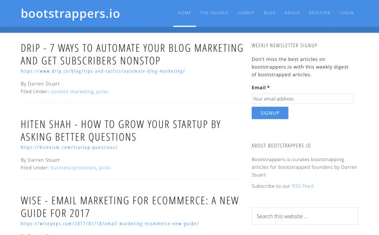 bootstrappersio - A site for bootstrappers the wor 01